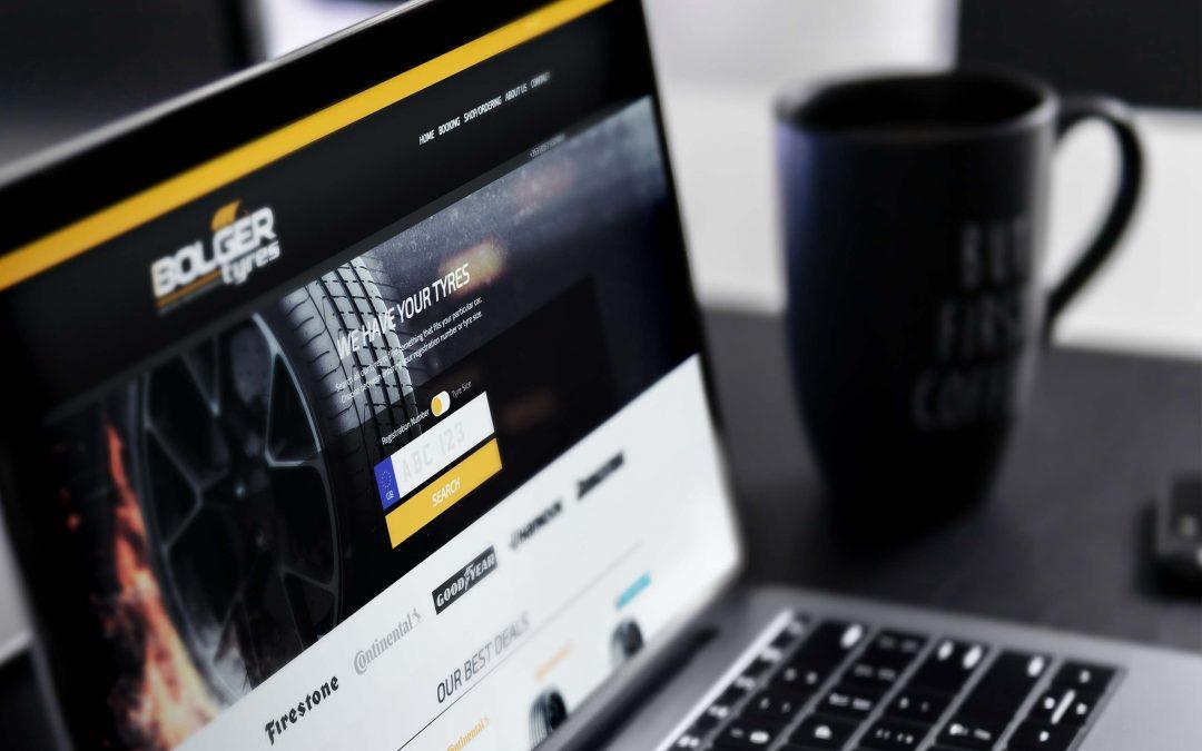 Bolger tyres i Storbritannien blir först ut med våra nya webshoppar